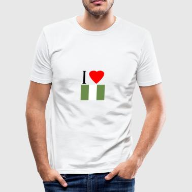 I Love Nigeria I love Nigeria - Men's Slim Fit T-Shirt