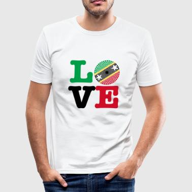 St Kitts NEVIS HEART - Slim Fit T-skjorte for menn