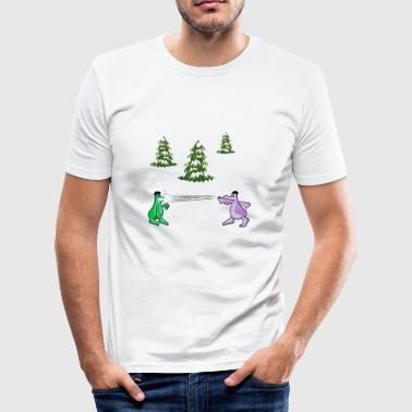 Snowball fight - Men's Slim Fit T-Shirt
