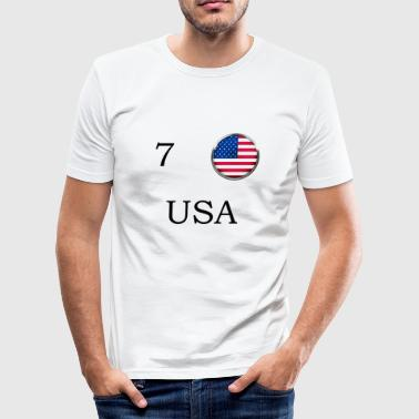 Usa Football Fan Camiseta Retro - Camiseta ajustada hombre