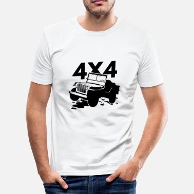 Offroad Kjøretøyer Off Road 4x4 Jeep - Slim Fit T-skjorte for menn