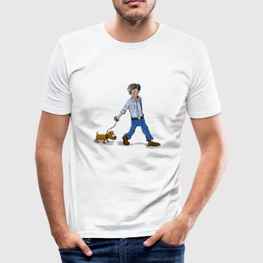 de hond uitlaten - slim fit T-shirt