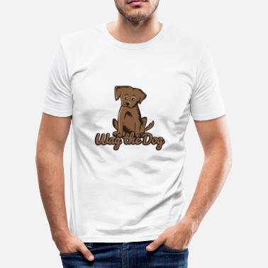 Wag Wag the dog - Men's Slim Fit T-Shirt