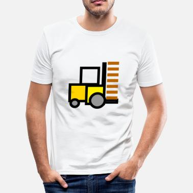 Transport Clerk forklift fork lift truck stacker pallet pallet - Men's Slim Fit T-Shirt