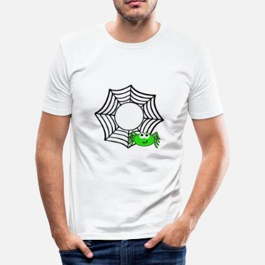 Spider Web Spider web spider web Halloween - Men's Slim Fit T-Shirt