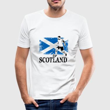 Flag Scotland Soccer - Fußball - Scotland Flag - Men's Slim Fit T-Shirt