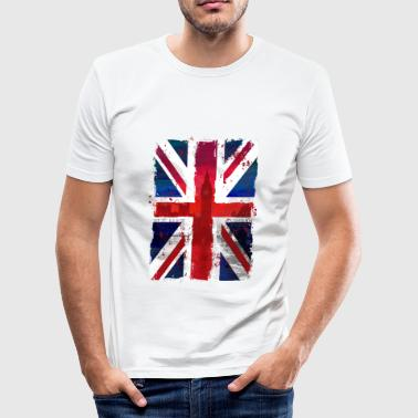 Union Jack - UK Flag - London - Männer Slim Fit T-Shirt