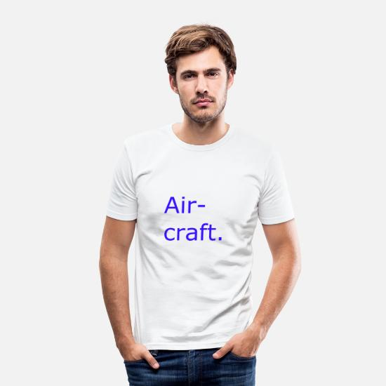 Engineering T-Shirts - Aircraft - Men's Slim Fit T-Shirt white