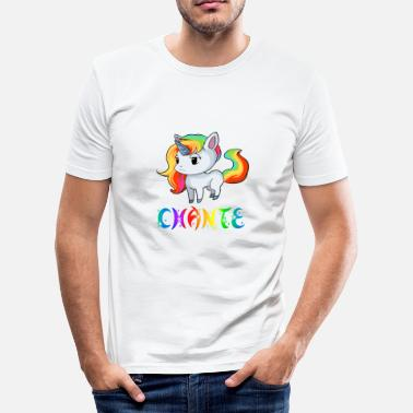 Chant Unicorn Chante - Men's Slim Fit T-Shirt