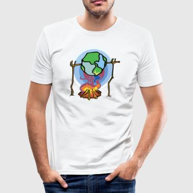 Earth Day Stop Global Warming - Men's Slim Fit T-Shirt