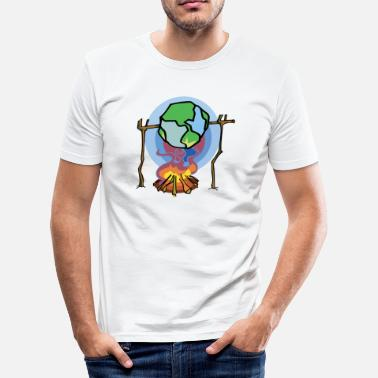 Global Earth Day Stop Global Warming - Men's Slim Fit T-Shirt