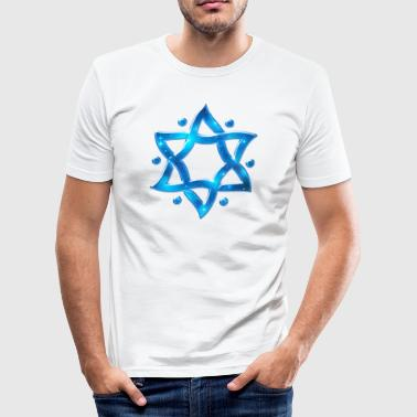 6 Point Star, Merkaba, Star of David, Hexagram, Solomon - Men's Slim Fit T-Shirt