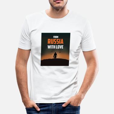 Russian Cyrillic FROM RUSSIA WITH LOVE - Men's Slim Fit T-Shirt