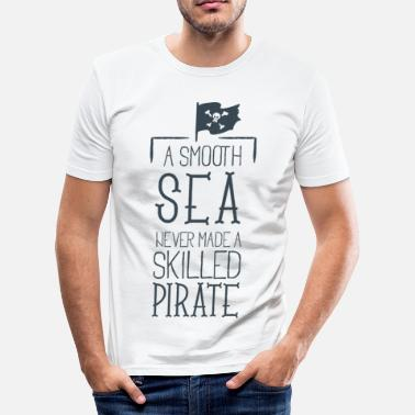 Instant SKILLED PIRATE - Seemann Spruch Piraten Geschenk - T-shirt moulant Homme