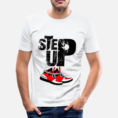 Robodance stepup r - Männer Slim Fit T-Shirt