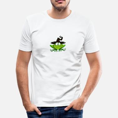 Trollbundet Witch Frog Halloween oktober Trick or Treat - Slim Fit T-skjorte for menn