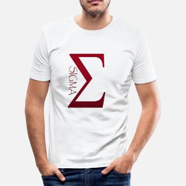Sigma Sigma - Slim Fit T-skjorte for menn