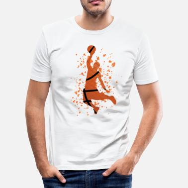 Basket I Love Basketball Basketball - i love basketball - Men's Slim Fit T-Shirt
