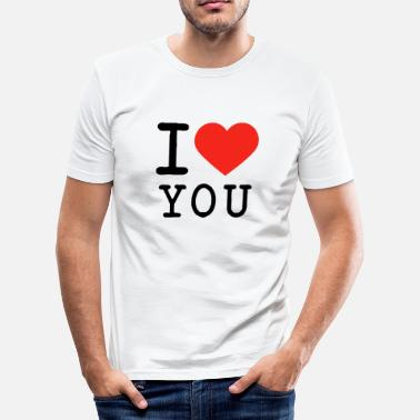 I Love I love I love U - Männer Slim Fit T-Shirt