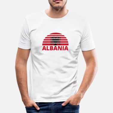 Sunburst Sunset Sunburst hjem hjem røtter ALBANIA png - Slim fit T-skjorte for menn