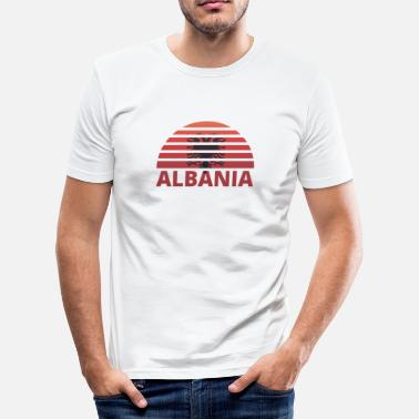 Sunburst Sunset Sunburst Hjem Hjem røtter ALBANIA h - Slim fit T-skjorte for menn