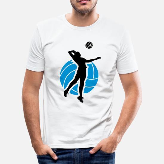 cc67987f62 Volleyball Design Men's Slim Fit T-Shirt   Spreadshirt