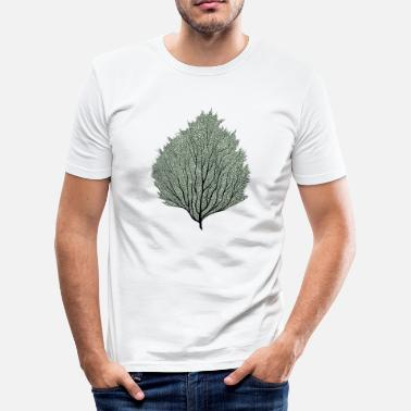 Plante blad - Slim Fit T-skjorte for menn