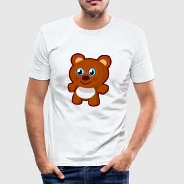 Archi, the teddy bear - Men's Slim Fit T-Shirt