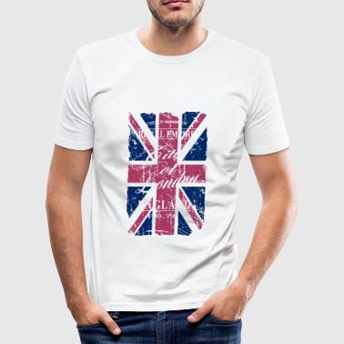 Union Jack - London - Vintage Look  - Maglietta aderente da uomo