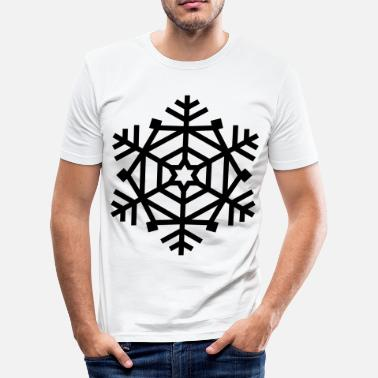 AD Geometric Snowflake - Herre Slim Fit T-Shirt