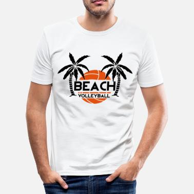 Beach Volley Ball Beach Volleyball - Men's Slim Fit T-Shirt
