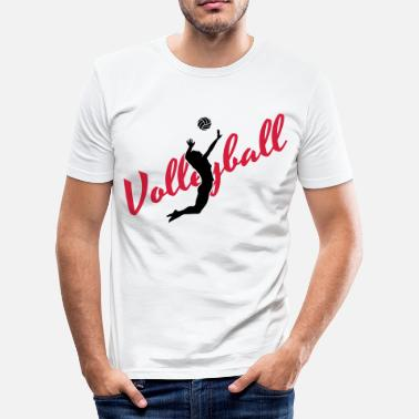 Volleyball Gracioso Volleyball - Camiseta ajustada hombre