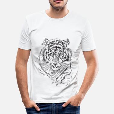 Bengalisk Tiger tiger - Slim Fit T-shirt herr