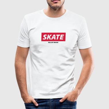 Skate Logo SKATE Boxed Logo - Men's Slim Fit T-Shirt