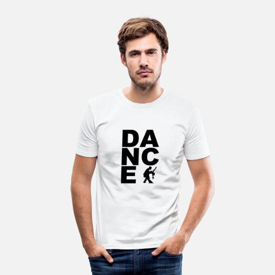 Dancing T-Shirts - Dance - Dance - Dance - Couple - Samba - Tango - Men's Slim Fit T-Shirt white