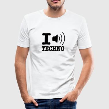 I love techno / I speaker techno - Tee shirt près du corps Homme