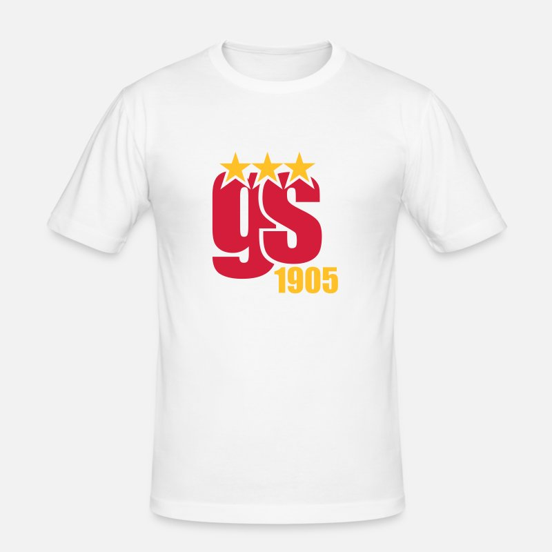 Galatasaray T-Shirts - Galatasaray - Mannen slim fit T-shirt wit