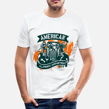 American Car American gangster of the old school - Men's Slim Fit T-Shirt