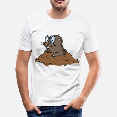 Shortsighted mole - Men's Slim Fit T-Shirt