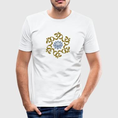 OM Lotus, Meditation, Buddha, Yoga, AUM,  - Herre Slim Fit T-Shirt