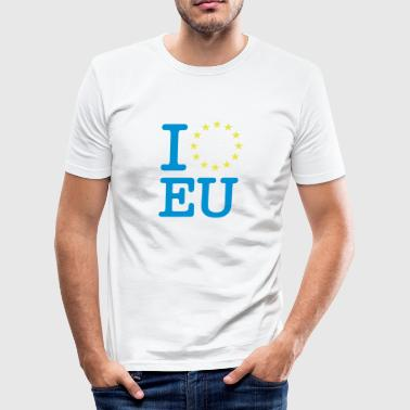 I love EU - Männer Slim Fit T-Shirt