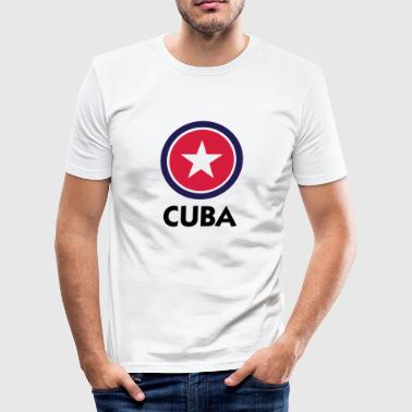 En stjerne for Cuba - Herre Slim Fit T-Shirt
