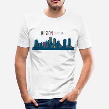 Boston Tea Party Skyline de Boston - T-shirt près du corps Homme