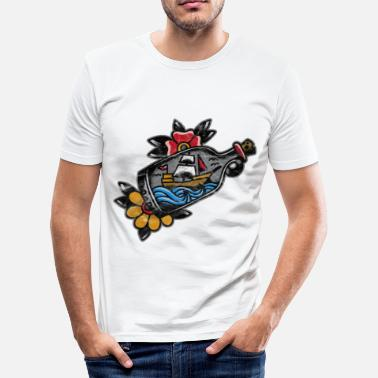 Traditionel old school tatovering tatovering gave - Herre Slim Fit T-Shirt