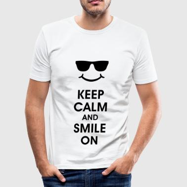 Keep Calm and Smile. Sorridere aiuta. Smiley Smily - Maglietta aderente da uomo