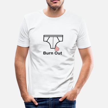 Burne Out Burn Out - T-shirt près du corps Homme