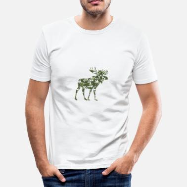 Elk ELK Flecktarn GREEN - T-shirt slim fit herr