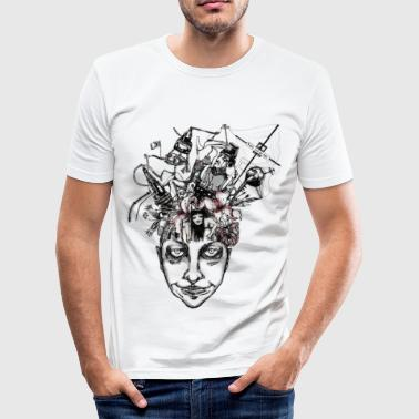 Brain - Trans - Men's Slim Fit T-Shirt