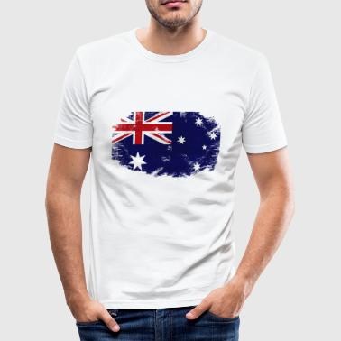 Australia Flag - Vintage Look - Männer Slim Fit T-Shirt