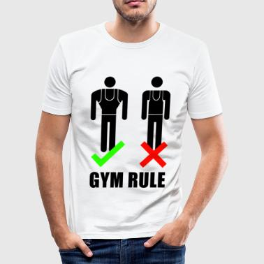 GYM RULE - Männer Slim Fit T-Shirt